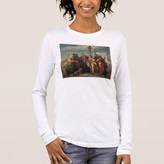 T-shirt À Manches Longues La réunion entre Titian (1488-1576) et Verones