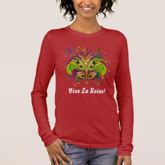 T-shirt À Manches Longues La vue foncée de reine de mardi gras note Plse