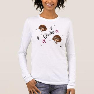 T-shirt À Manches Longues L'adulte/ado de Gladys classe de longues douilles
