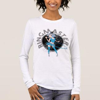 T-shirt À Manches Longues L'adulte (argenté) de chef de piste et badinent