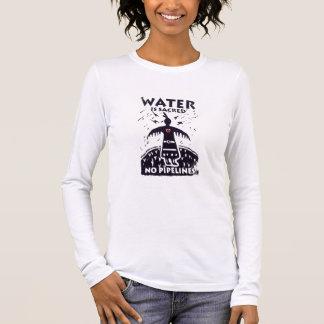 T-shirt À Manches Longues L'eau est pièce en t sacrée