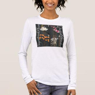 T-shirt À Manches Longues L'heure-milliampère Jongg fleurit la chemise