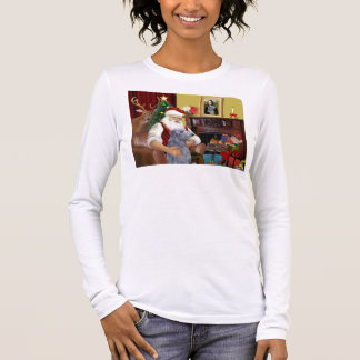 T-shirt À Manches Longues Limier de Scottsh de Père Noël