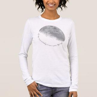 T-shirt À Manches Longues Lune d'empreinte digitale
