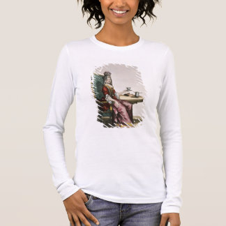 T-shirt À Manches Longues Madame Taking Coffee, plat de mode, c.1695
