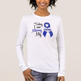 T-shirt À Manches Longues Manquant mon cousin 1 (ruban bleu)