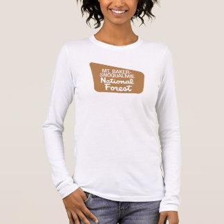 T-shirt À Manches Longues Mt. réserve forestière de Boulanger-Snoqualmie