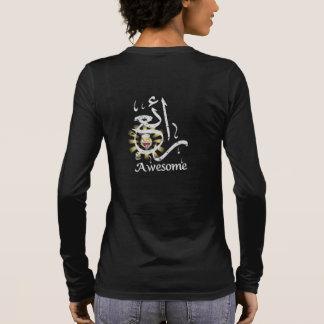 T-shirt À Manches Longues Noir arabe impressionnant de calligraphie de