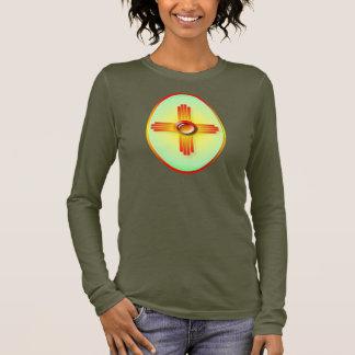 T-shirt À Manches Longues Ovale de Sun de matin