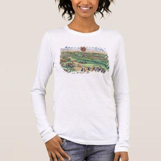 T-shirt À Manches Longues Plan de ville de Grodno, de 'Civitates Orbis