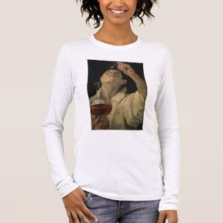 T-shirt À Manches Longues Portrait d'un homme buvant, c.1581-4 (huile sur le