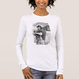 T-shirt À Manches Longues Portrait d'un pêcheur portant ses filets (pho de