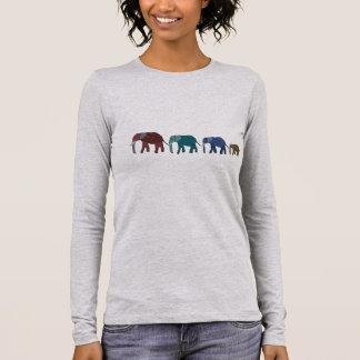 T-shirt À Manches Longues Promenade d'éléphant africain