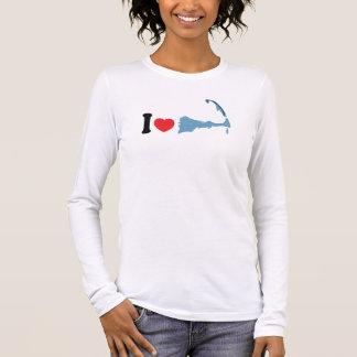 """T-shirt À Manches Longues Provincetown """"j'aime"""" la conception"""