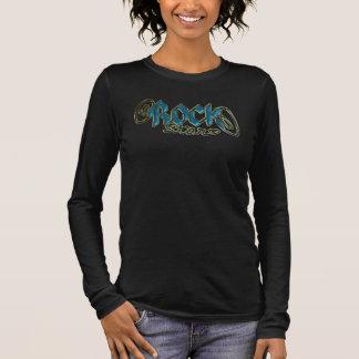 T-shirt À Manches Longues Rockstar ! Musicien de Rockstar en métal de bleu