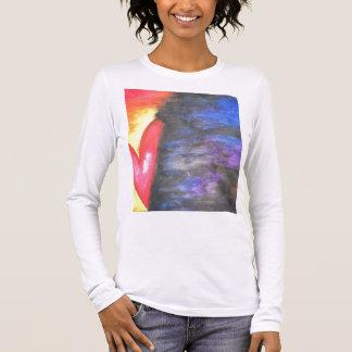 T-shirt À Manches Longues Rouge peint