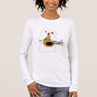 T-shirt À Manches Longues Saxo avec la chemise de bonhomme de neige