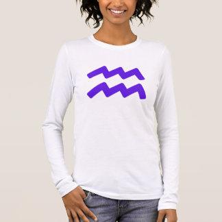 T-shirt À Manches Longues Symbole pourpre de Verseau