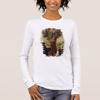 T-shirt À Manches Longues Un donateur féminin avec ses deux filles se