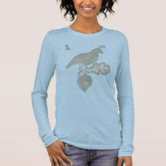 T-shirt À Manches Longues une caille