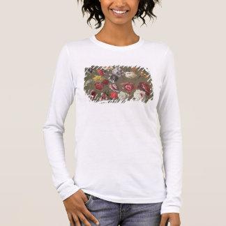 T-shirt À Manches Longues Une étude des pivoines (huile sur la toile)
