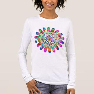 T-shirt À Manches Longues V - ÉCLABOUSSURE d'ÉTINCELLE bien choisie de V-Cou