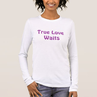 T-shirt À Manches Longues Véritables attentes d'amour