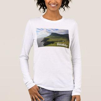 T-shirt À Manches Longues Village féroïen de Gásadalur : Chemise