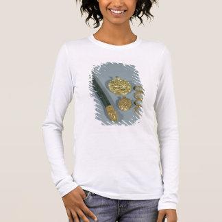 T-shirt À Manches Longues Whetstone et anneaux avec la décoration granulée,