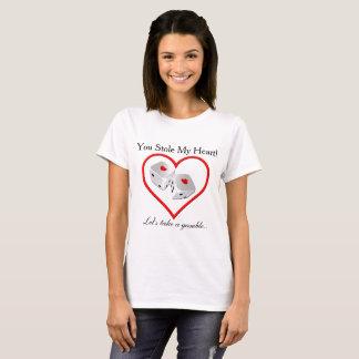 T-shirt A volé mon coeur - chemise de jeu