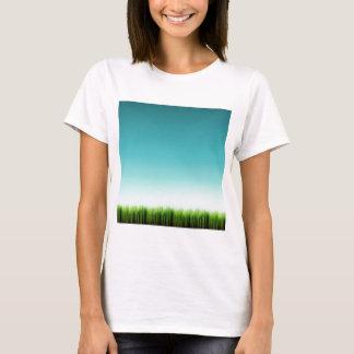 T-shirt Abondance fraîche abstraite d'herbe