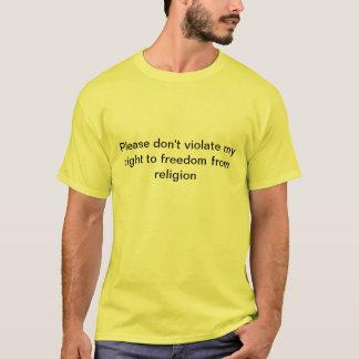 T-shirt Absence de religion