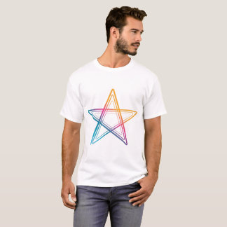 T-shirt Abstract colorful star Man shirt