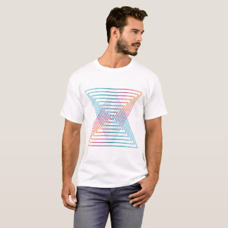 T-shirt Abstract colorful Triangle Man shirt