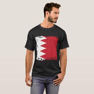 T-shirt abstrait de drapeau du Bahrain