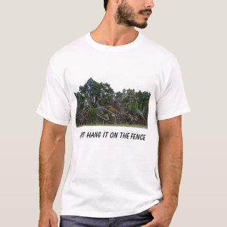 T-shirt Accrochez-juste le sur la barrière