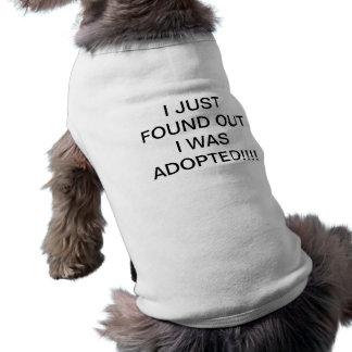T-shirt adopté de chien vêtements pour chien