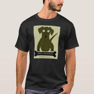 """T-shirt """"Adoptez un teckel"""" conçu par Zermeno"""
