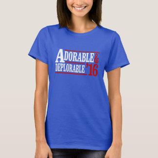 T-shirt Adorable et déplorable - Anti-Hillary