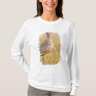 T-shirt adulte américanus Long-affiché de Numenius de