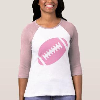 T-shirt ADULTES rose du FOOTBALL et football rose doux du