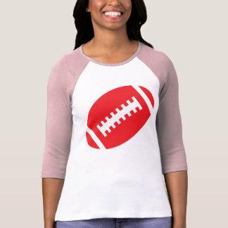 T-shirt ADULTES rose du FOOTBALL et football rouge du