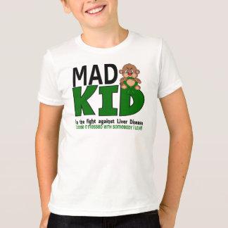 T-shirt Affection hépatique folle d'enfant