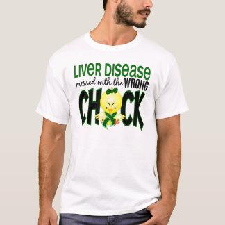 T-shirt Affection hépatique salie avec le poussin faux