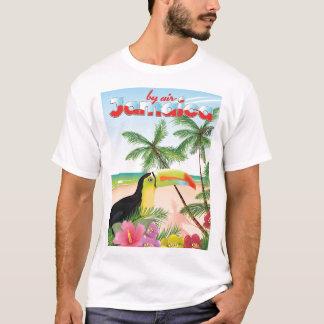 T-shirt Affiche de plage de toucan de la Jamaïque