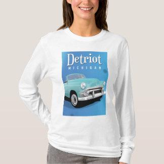 T-shirt Affiche vintage de voyage de Detroit Michigan