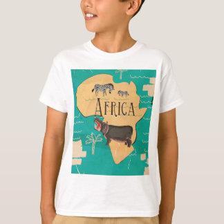 T-shirt Affiche vintage de voyage de l'Afrique