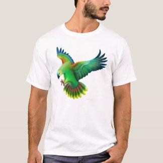 T-shirt affronté bleu de perroquet d'Amazone