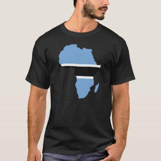 T-shirt Africa drapeau carte Botswana