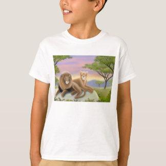 T-shirt africain d'enfants de lions